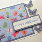 Birthday Card, Butterfly Bi..