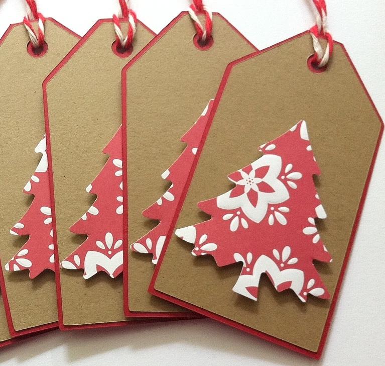 Christmas gift tags kraft christmas tree gift tags set for Custom tags for crafts